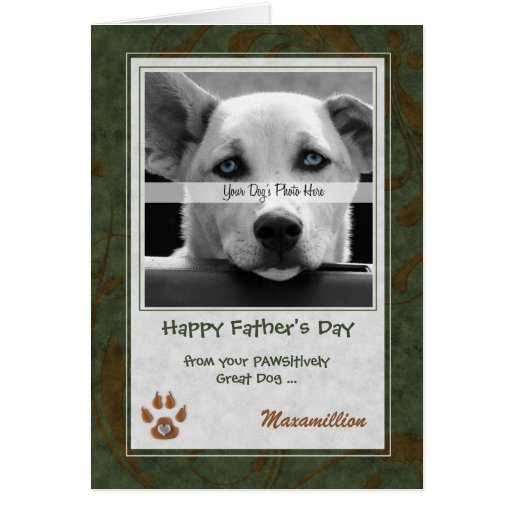 from the Dog Father's Day Photo Card