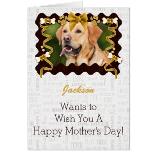 From the Dog Mother's Day in Brown and Gold Greeting Card