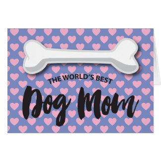 FROM THE DOG MOTHER'S DAY | LOVE HEARTS BONE GREETING CARD