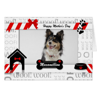 from the Dog Mother's Day Photo in Red and Black Greeting Card