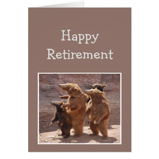 From the Group Happy Retirement Fun Bears Card