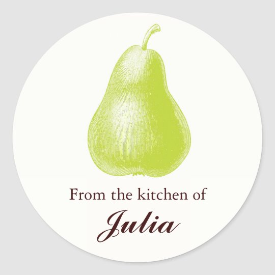From the Kitchen of Culinary Labels Round Sticker
