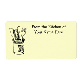 From the Kitchen Of Food Cooking Label Shipping Label