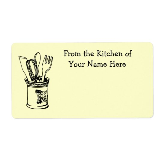 From the Kitchen Of Food Cooking Label