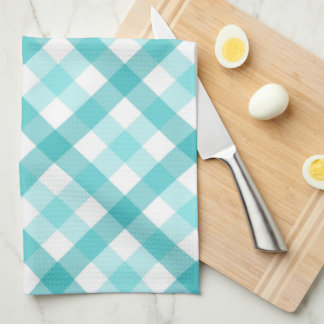 From the Kitchen of Food Label - Teal Tea Towel