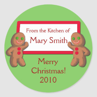From the Kitchen of ...Holiday Gifting Labels Round Sticker