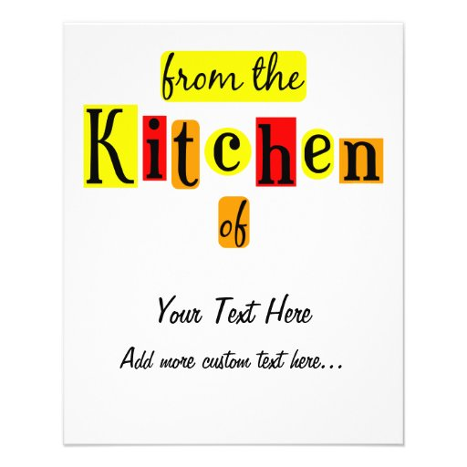 From the Kitchen of Retro Custom Canning Flyer