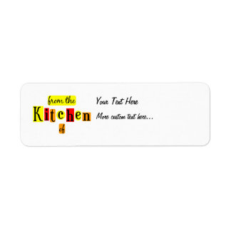 From the Kitchen of Retro Custom Canning Tag Label Return Address Label