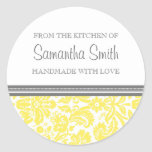From the Kitchen of Sticker Lemon Damask