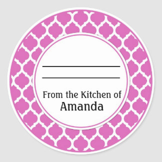 From the Kitchen of Sticker, Made For You By Label Round Sticker