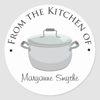From the Kitchen of - Stock Pot Round Sticker