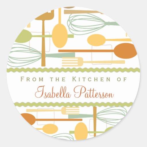 From the Kitchen Retro Cooking Utensils Sticker