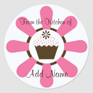 """From the Kitechen of"" Cupcake Sticker"