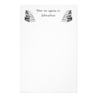 From the Library of Books Custom Stationery