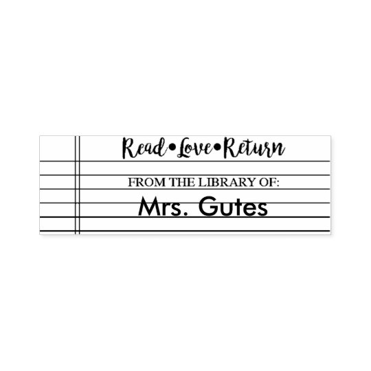 From the Library of- Teacher stamp