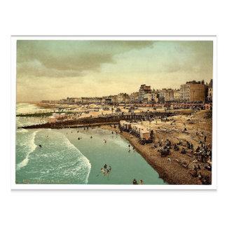 From the pier, Brighton, England vintage Photochro Postcard