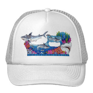 From the Sharks Collection by FishTs.com Mesh Hat