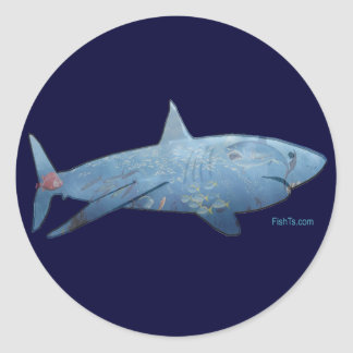 From the Sharks Collection Round Sticker