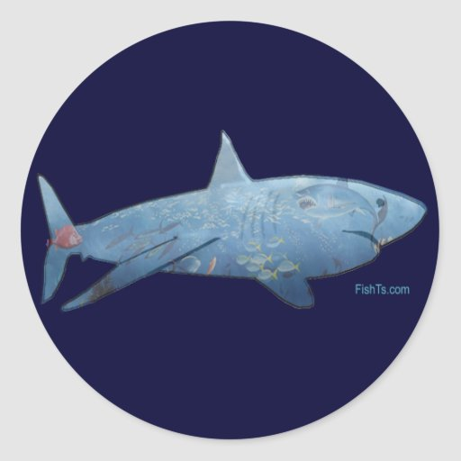 From the Sharks Collection Round Stickers