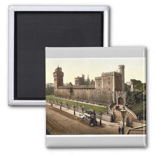 From the southeast, Cardiff Castle, Wales rare Pho Magnet