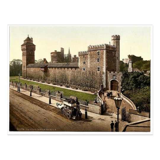 From the southeast, Cardiff Castle, Wales rare Pho