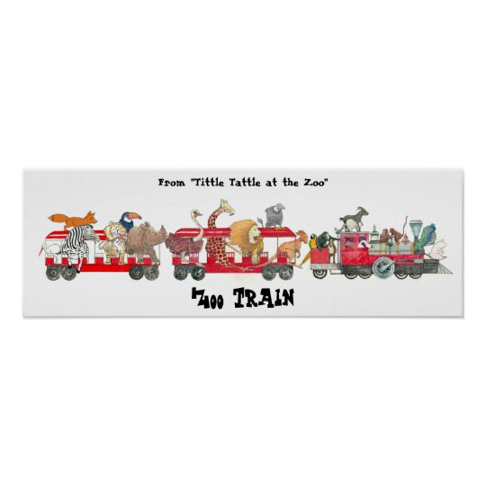 """From """"Tittle Tattle at the Zoo"""", Zoo Train"""