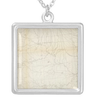 From W boundary of Missouri to mouth of Trap Creek Silver Plated Necklace