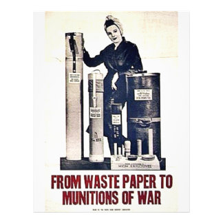 From Waste Paper To Munitions Of War 21.5 Cm X 28 Cm Flyer