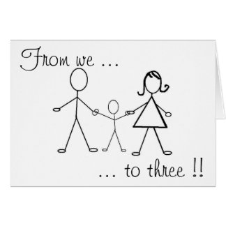 From we to three !! greeting card