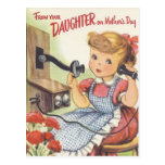 From Your Daughter on Mothers Day Postcard
