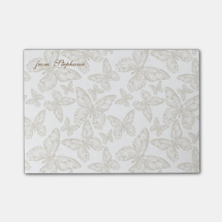 FROM YOUR NAME | Whimsical Butterfly Pattern Post-it Notes