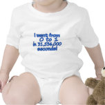 From Zero To One In Seconds Baby Bodysuits