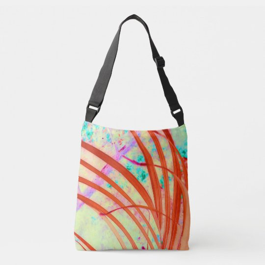 Fronds Go Red Crossbody Bag