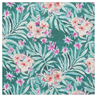 FRONDS ON FLEEK Tropical Palm Floral Fabric