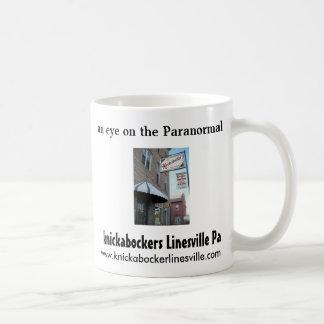 front, an eye on the Paranormal, knickabockers ... Basic White Mug
