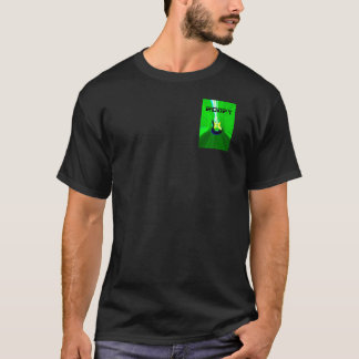 Front and Back Roofy Green logo and 3D logo T-Shirt