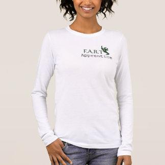 FRONT: Apprentice: green. BACK: FART logo: green Long Sleeve T-Shirt
