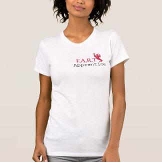 FRONT: Apprentice: pink. BACK: FART logo: green T-Shirt