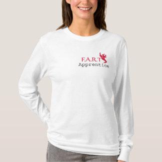 FRONT: Apprentice: pink. BACK: FART logo: pink T-Shirt