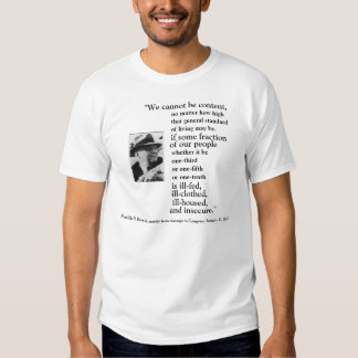 FRONT/BACK FDR'S 2ND BILL OF RIGHTS, IMAGE + QUOTE T-SHIRTS