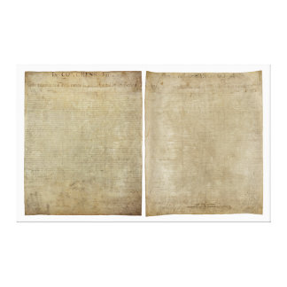 Front & Back ORIGINAL Declaration of Independence Canvas Print