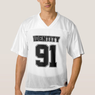 Front BLACK GREY WHITE Mens Football Jersey