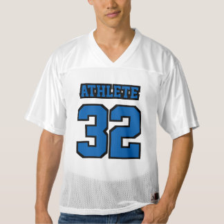 Front BLUE BLACK WHITE Mens Football Jersey