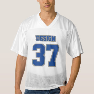 Front BLUE GREY WHITE Mens Football Jersey