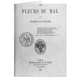 Front Cover, First Edition of 'Les Fleurs du Greeting Card