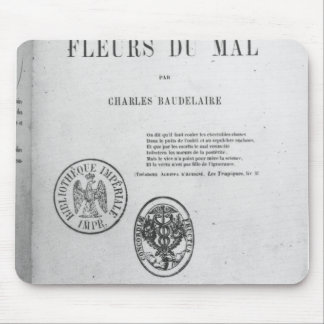 Front Cover, First Edition of 'Les Fleurs du Mouse Pad