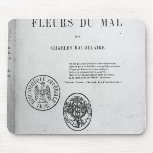 Front Cover, First Edition of 'Les Fleurs du Mouse Pads