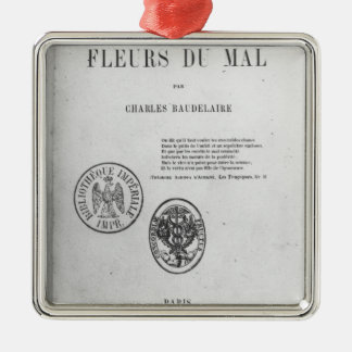 Front Cover, First Edition of 'Les Fleurs du Silver-Colored Square Decoration