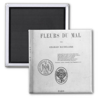 Front Cover, First Edition of 'Les Fleurs du Square Magnet