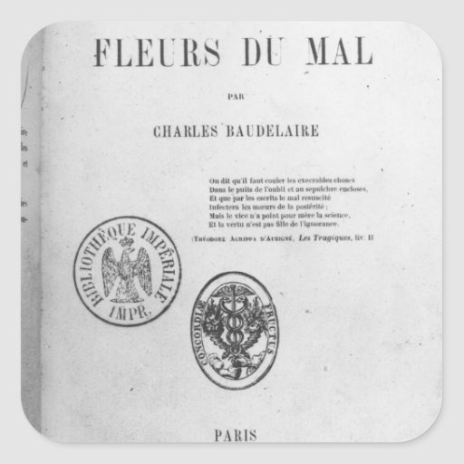 Front Cover, First Edition of 'Les Fleurs du Square Sticker
